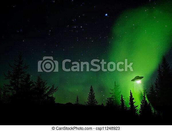 UFO-Landung - csp11248923
