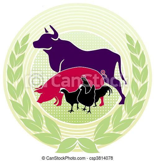 landwirtschaft, siegel - csp3814078