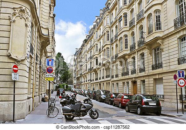 Lane in the center of Paris. France - csp11287562