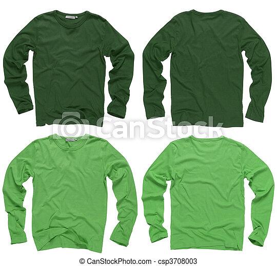 lang, groene, overhemden, mouw, leeg - csp3708003