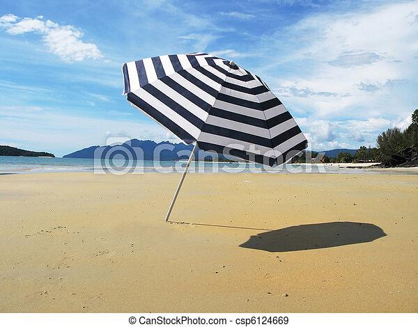 langkawi, 傘, 島, しまのある, 浜, 砂 - csp6124669