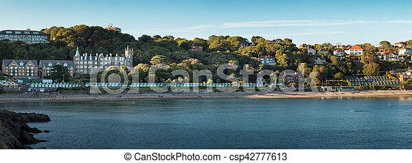 Langland Bay Gower - csp42777613