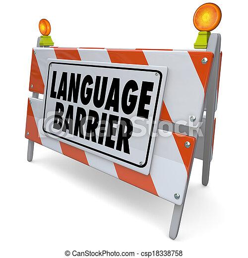 Language Barrier Translation Interpret Message Meaning Words - csp18338758