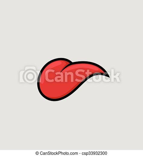 langue vecteur dessin anim csp33932300 - Langue Dessin
