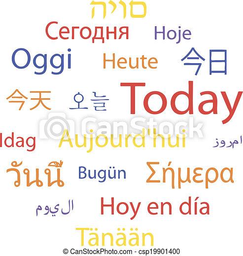 langues, aujourd'hui - csp19901400