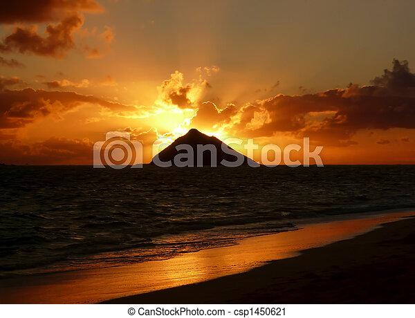 La playa Sunrise Lanikai - csp1450621