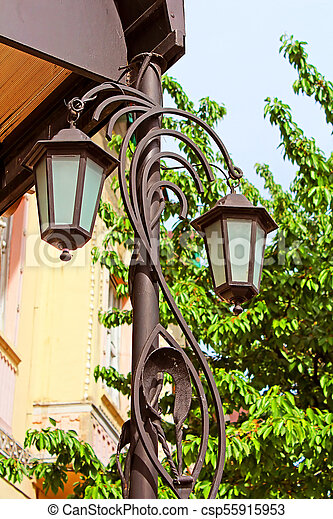Lantern in Berehove, Ukraine - csp55915953