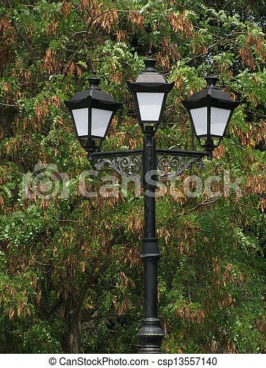 lantern in park - csp13557140