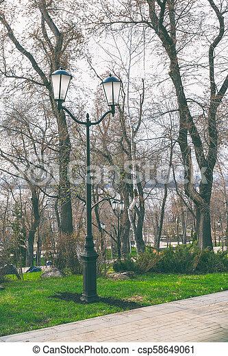 Lantern in the Park - csp58649061