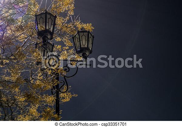 Lantern in the park - csp33351701
