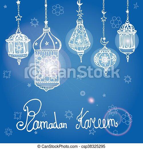 Lantern of ramadan kareemodle greeting card traditional eps lantern of ramadan kareemodle greeting card csp38325295 m4hsunfo