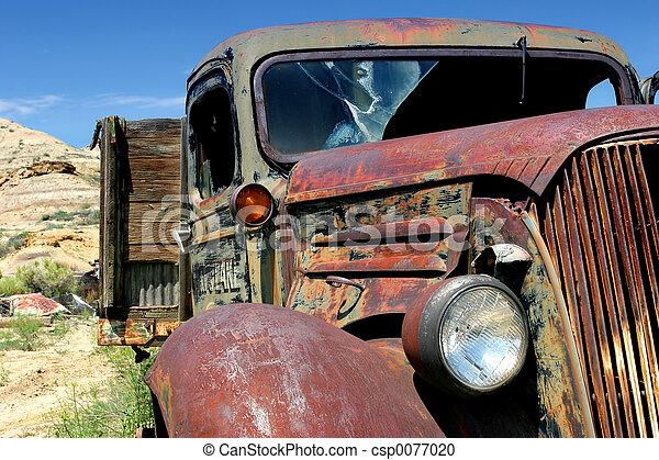lantgård, årgång, lastbil - csp0077020