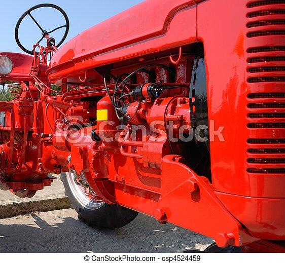 lantgård, motor, traktor - csp4524459