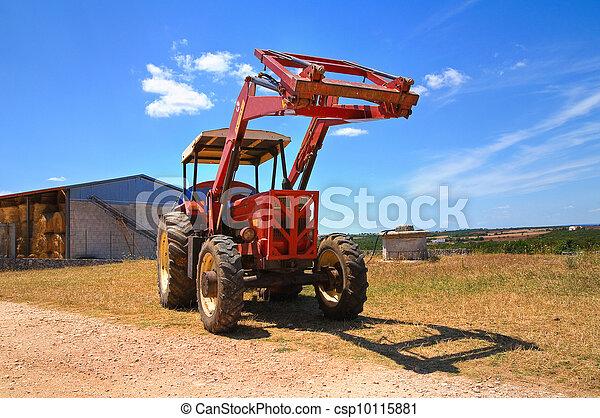 lantgård, tractor. - csp10115881