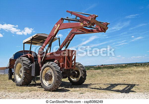 lantgård, tractor. - csp8086249