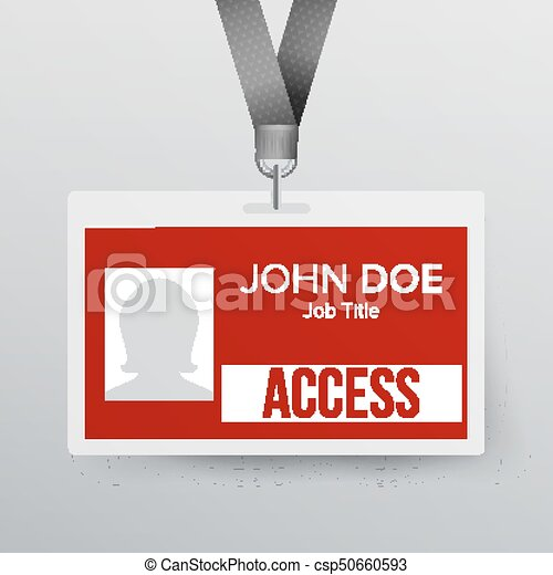 Lanyard Badge Vector  Identity Card For Security To Business Conference  Realistic Illustration