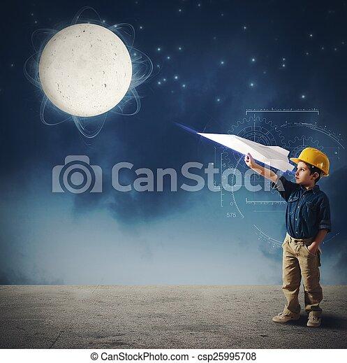 Transbordador a la luna - csp25995708