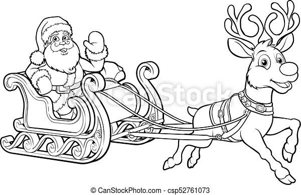 Dibujos De Navidad Trineo Santa | www.imagenesmy.com