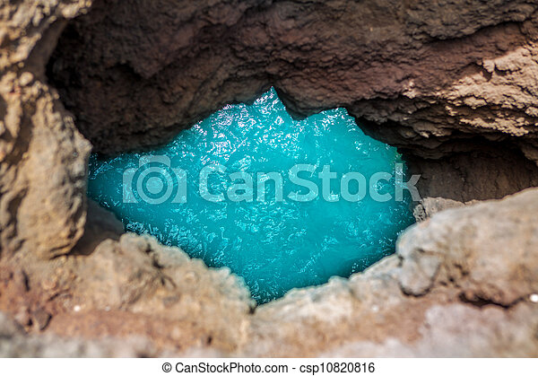 Lanzarote Los hervideros like boiling water - csp10820816