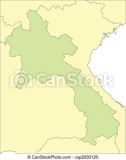 Laos and Surrounding Countries - csp2930120