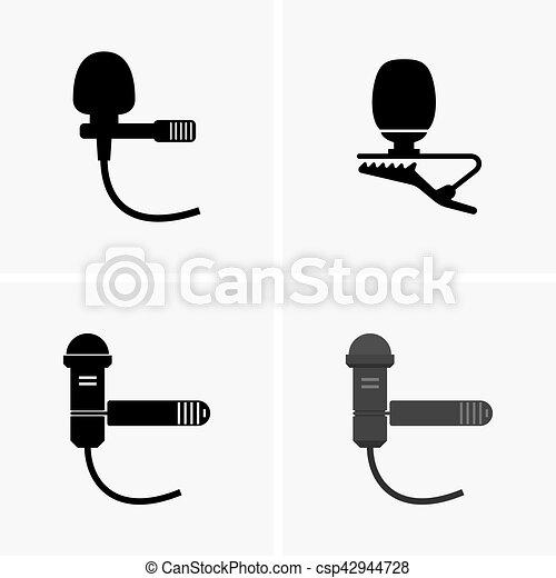 Lapel microphones - csp42944728