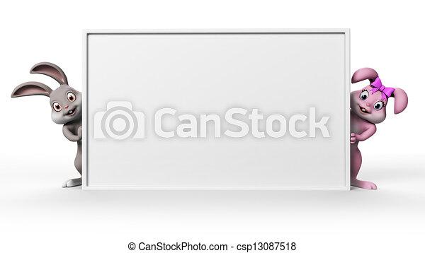 lapin pâques - csp13087518