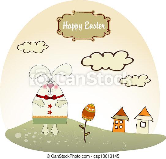 lapin pâques - csp13613145