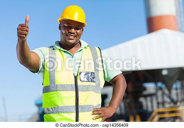 lapozgat, odaad, munkás, feláll, szerkesztés, afrikai - csp14356409