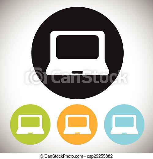 laptop, ícone - csp23255882