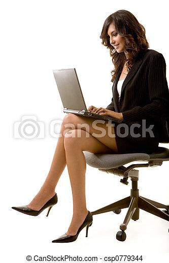 laptop , εργαζόμενος  - csp0779344