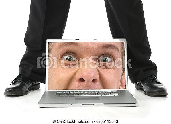 laptop , πόδια , ζεσεεδ  - csp5113543