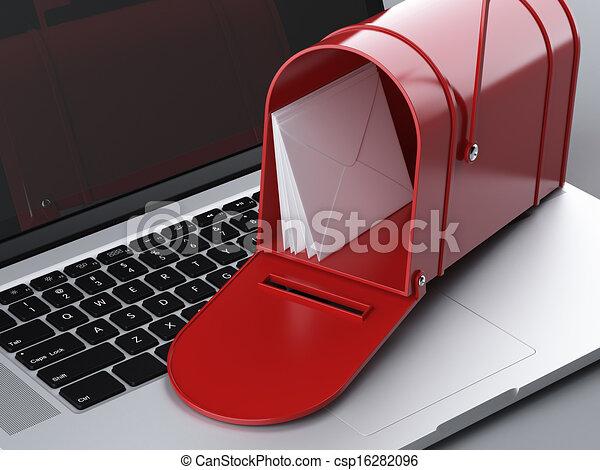 laptop and mailbox - csp16282096