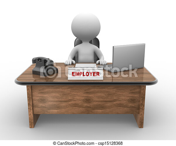 Laptop and phone. Employer  - csp15128368
