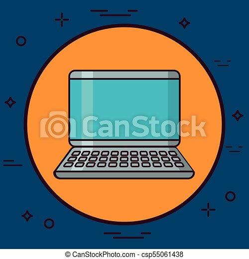 laptop computer icon - csp55061438