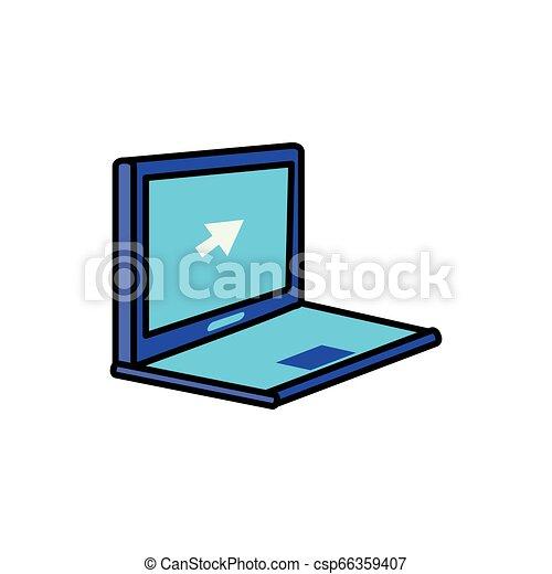 Laptop-Computer mit Zeigerpfeil - csp66359407