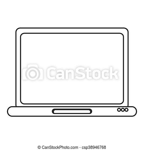 laptop frontview icon - csp38946768