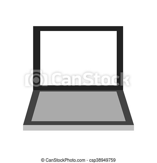 laptop frontview icon - csp38949759