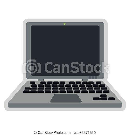 laptop frontview icon - csp38571510