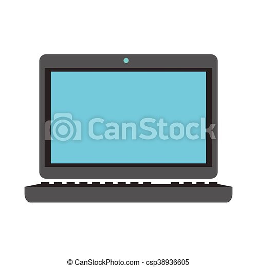 laptop frontview icon - csp38936605