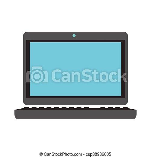 laptop frontview icon - csp38936605