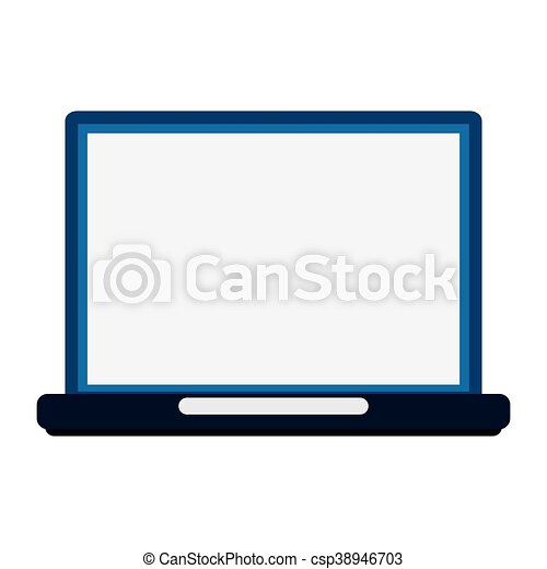 laptop frontview icon - csp38946703