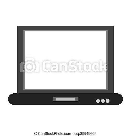 laptop frontview icon - csp38949608