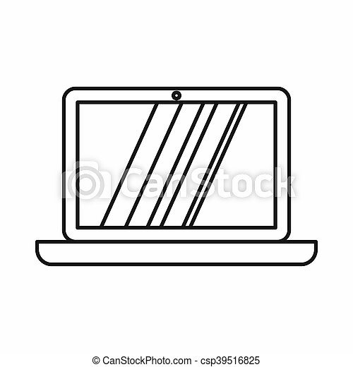 Laptop icon, outline style - csp39516825