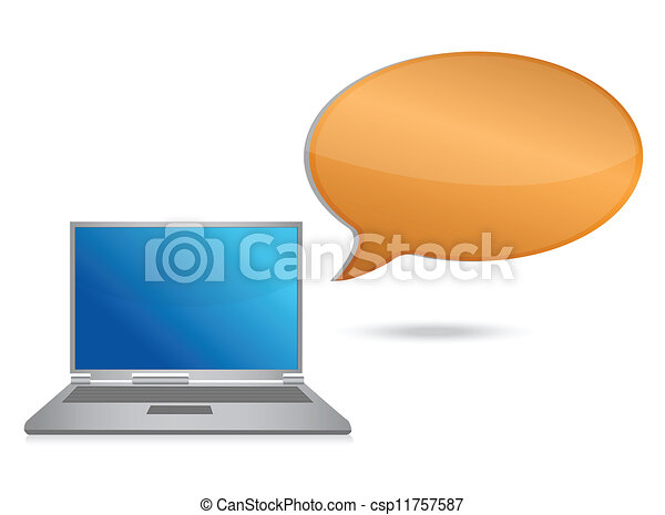 laptop message bubble - csp11757587