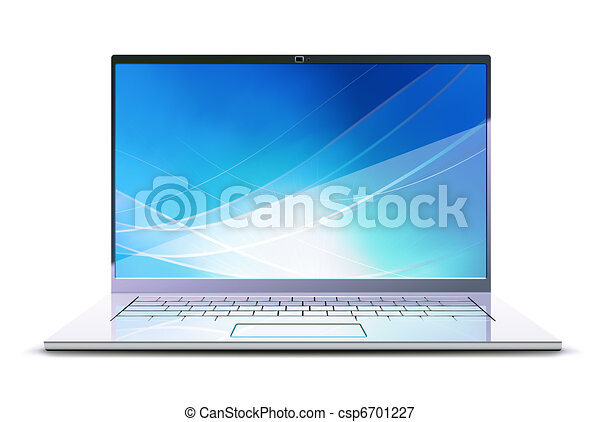 laptop, modernos - csp6701227