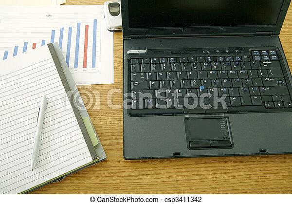 Laptop On Table - csp3411342