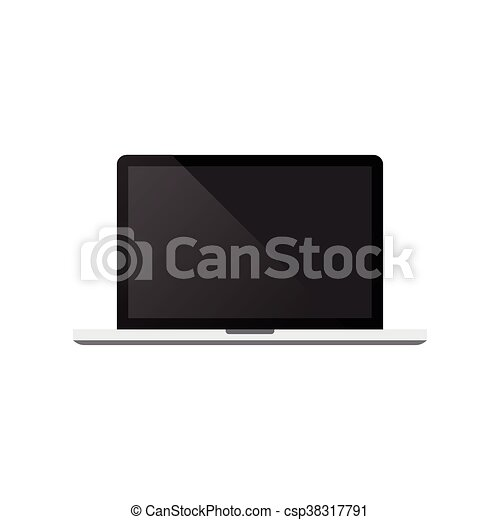 Laptop on white background vector illustration - csp38317791