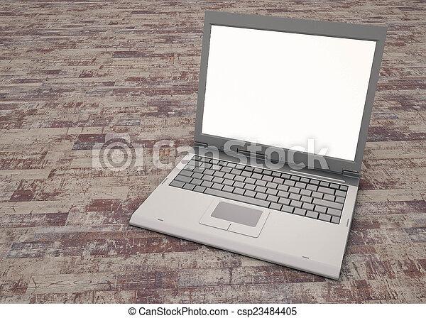 laptop, praca - csp23484405