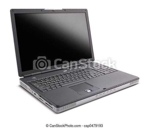laptop, pretas - csp0479193