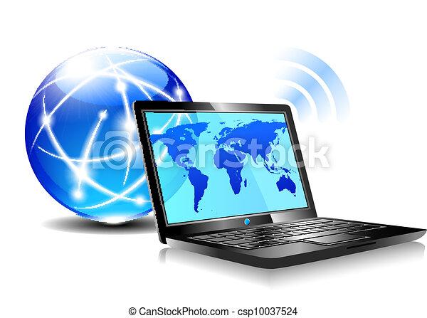 laptop, surfing, internet - csp10037524